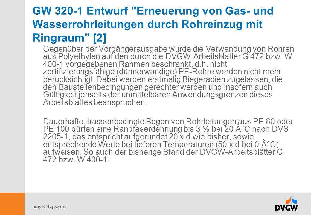 GW 320-1 Entwurf Erneuerung von Gas- und Wasserrohrleitungen durch Rohreinzug mit Ringraum [2]